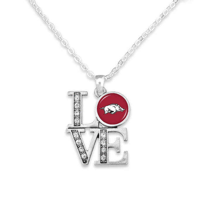 Arkansas Razorbacks LOVE Necklace