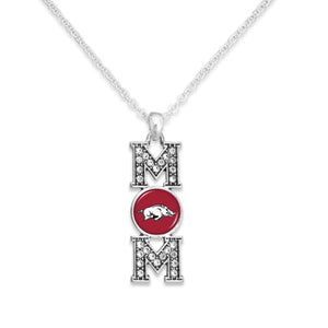 Arkansas Razorbacks MOM Necklace