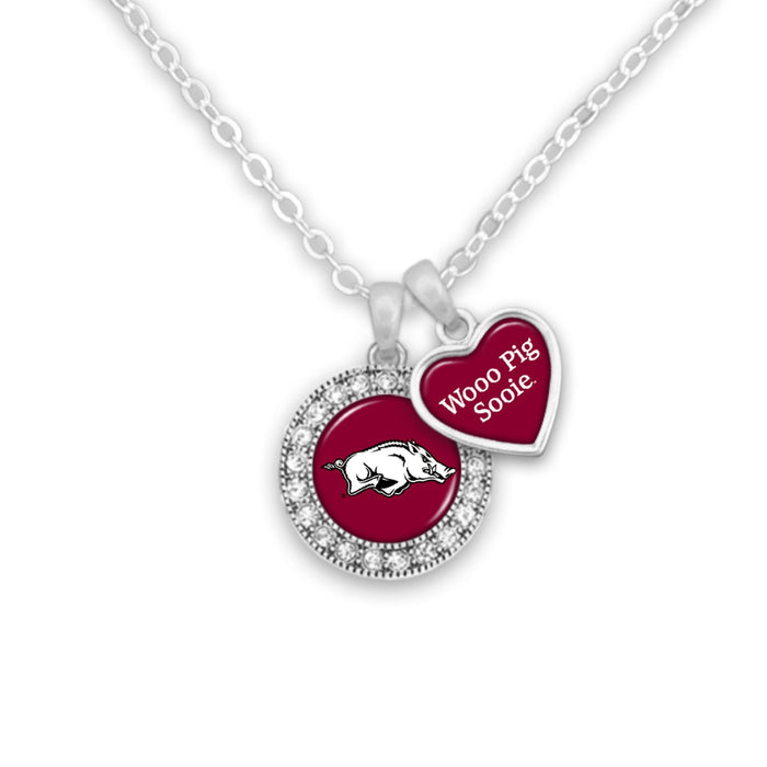 Arkansas Razorbacks Spirit Slogan Necklace