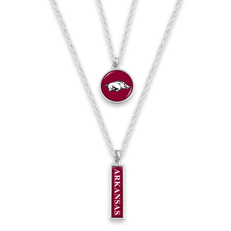 Arkansas Razorbacks Double Layer Necklace