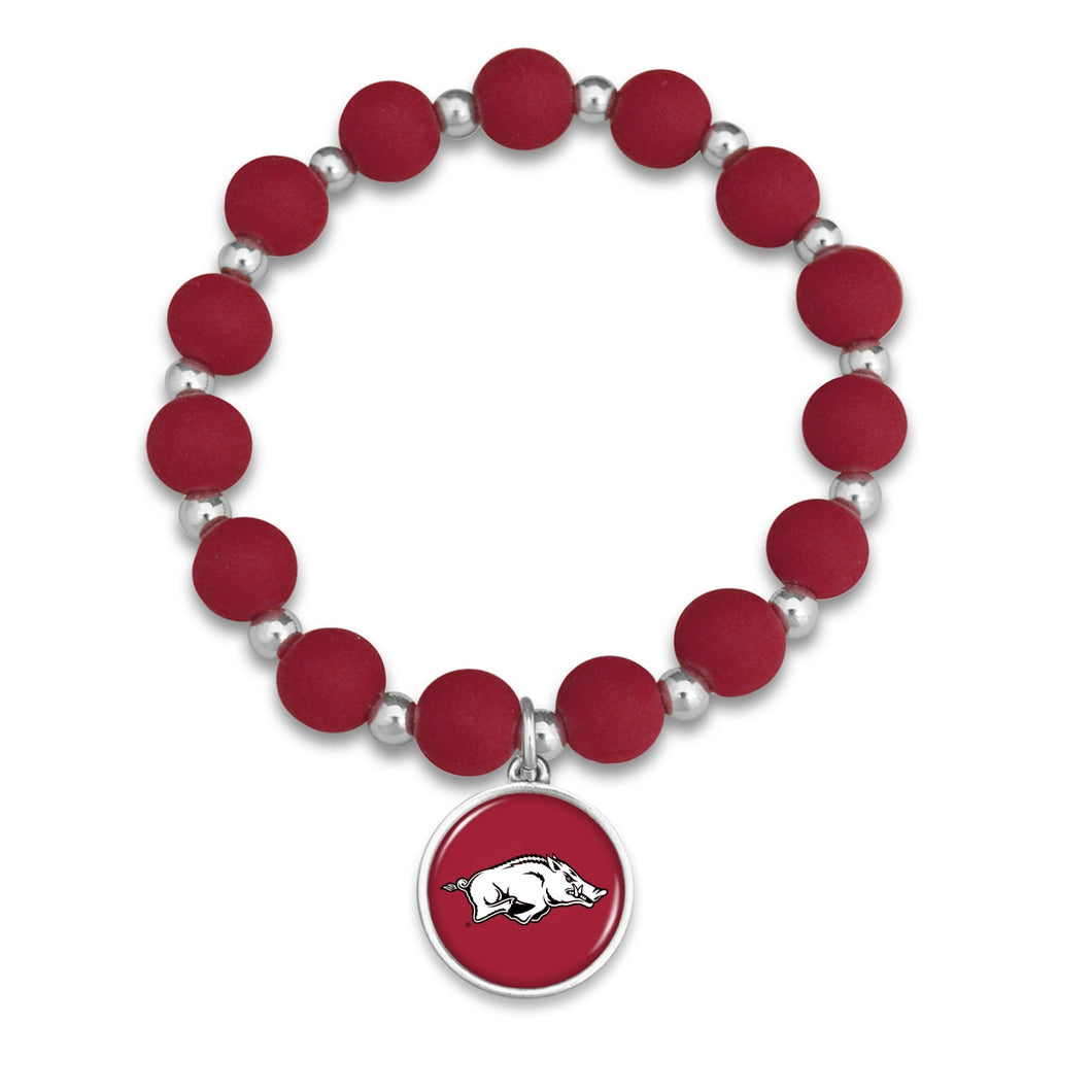 Arkansas Razorbacks Leah Bracelet