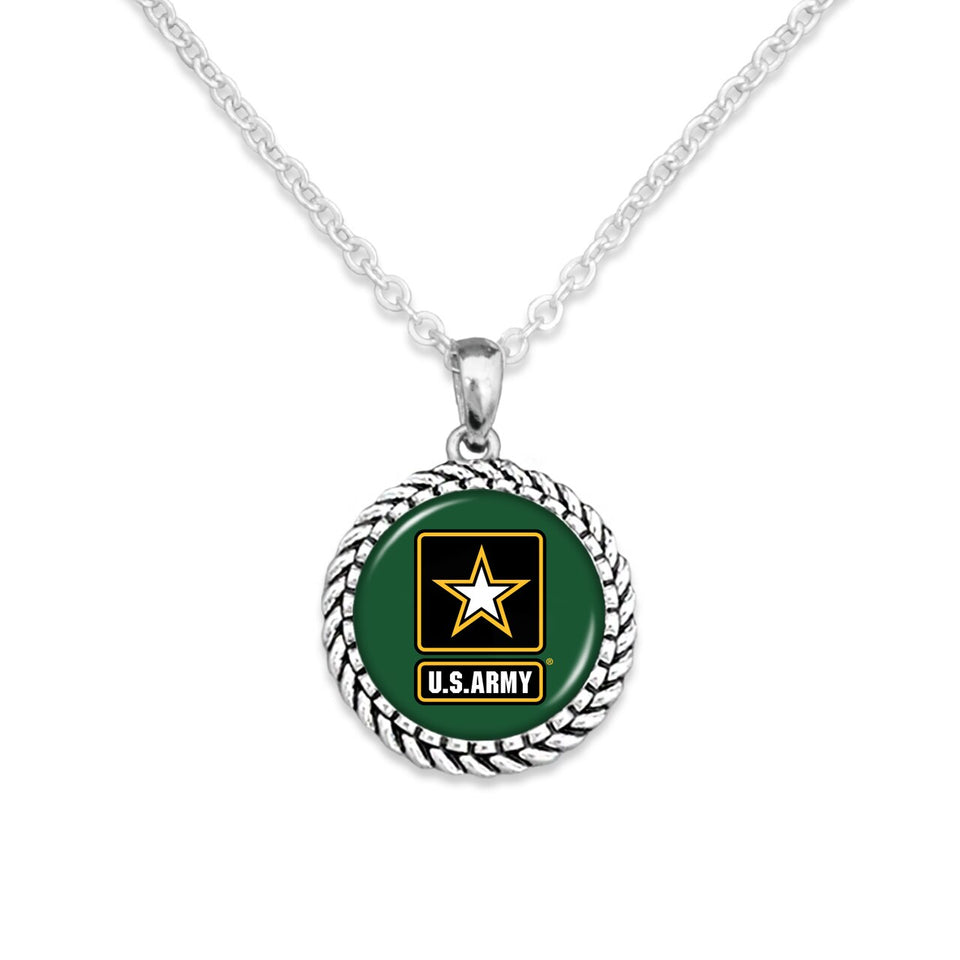 U.S. Army Rope Edge Charm Necklace