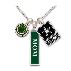 U.S. Army Triple Charm Necklace for Mom