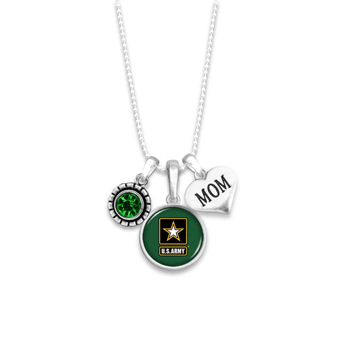 U.S. Army Mom Accent Charm Necklace