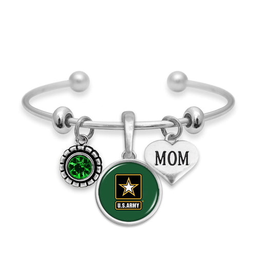 U.S. Army Mom Accent Charm Bracelet