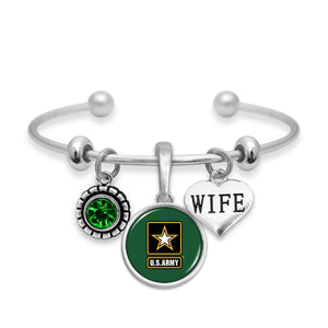 U.S. Army Wife Accent Charm Bracelet
