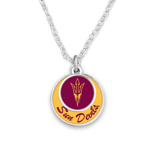 Arizona State Sun Devils Stacked Disk Necklace