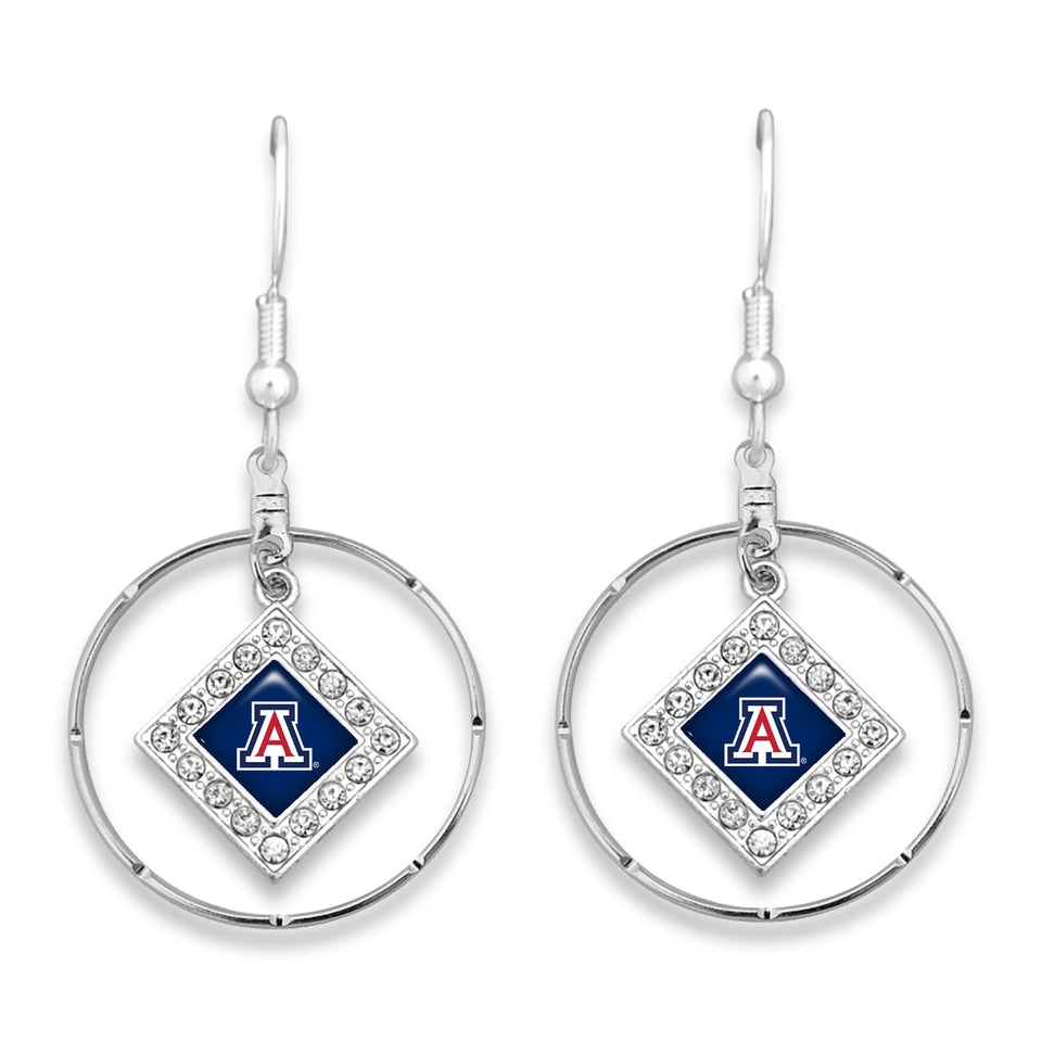 Arizona Wildcats Silver Hoop Earrings