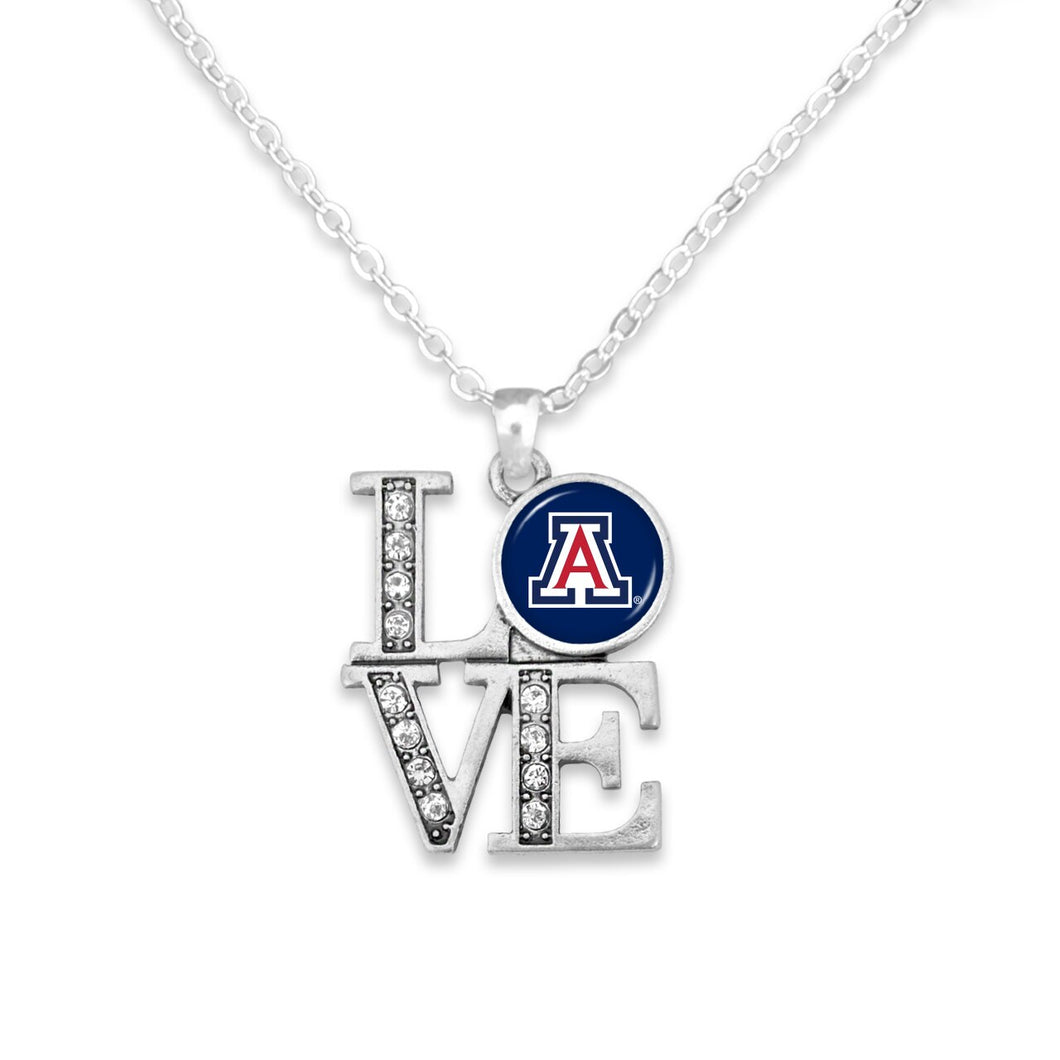 Arizona Wildcats LOVE Necklace