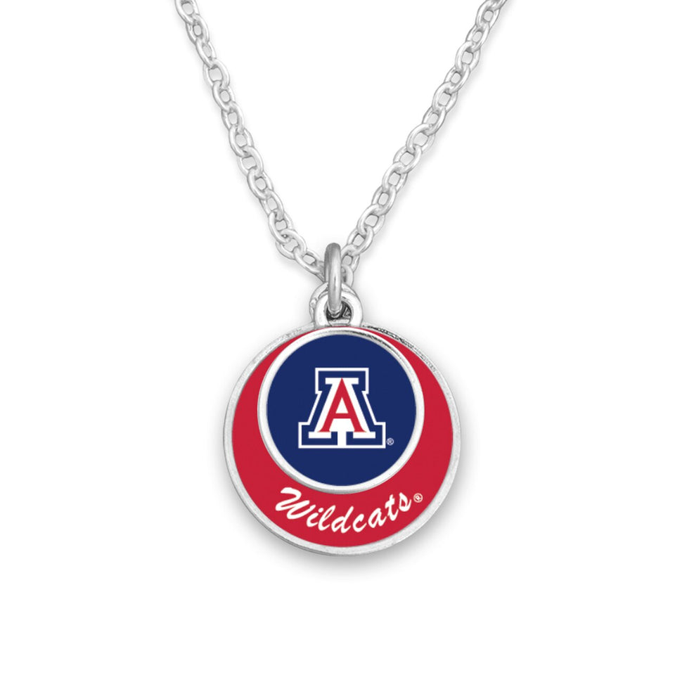 Arizona Wildcats Stacked Disk Necklace