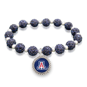 Arizona Wildcats Team Color Sparkle Stretchy Bracelet