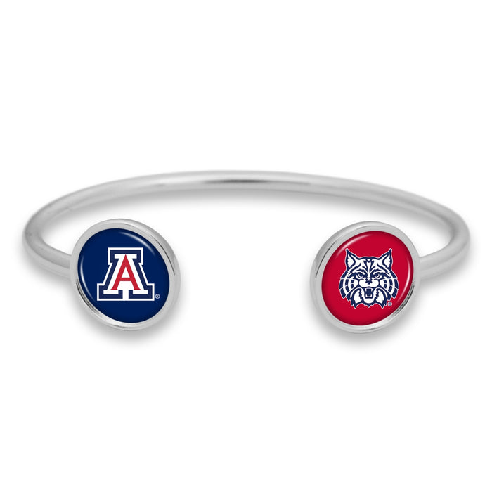 Arizona Wildcats Duo Dome Cuff Bracelet