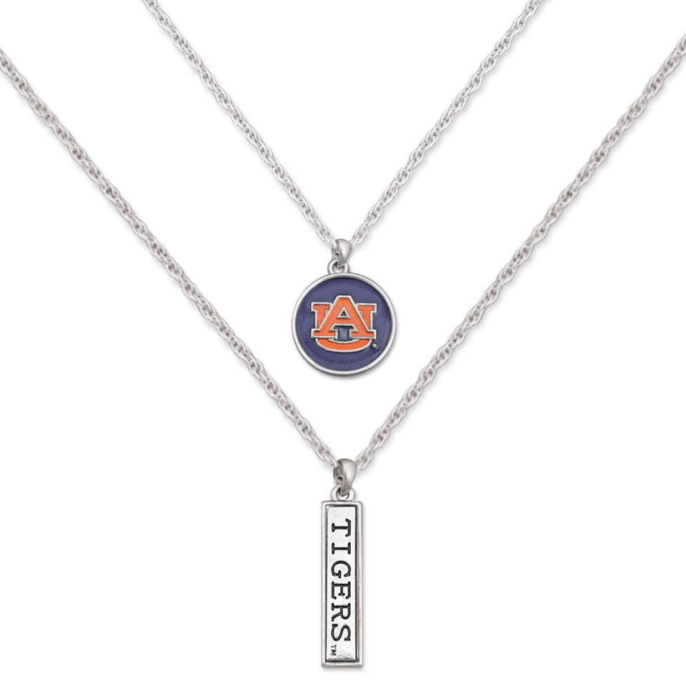 Auburn Tigers Double Down Necklace
