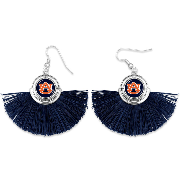 Auburn Tigers Tassel Earrings