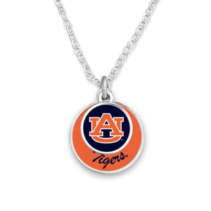 Auburn Tigers Stacked Disk Necklace