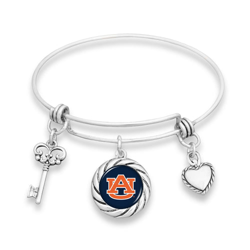 Auburn Tigers Twisted Rope Bracelet