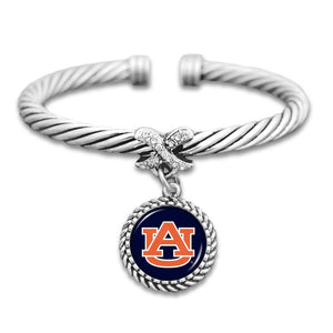 Auburn Tigers Bangle Cuff  Bracelet