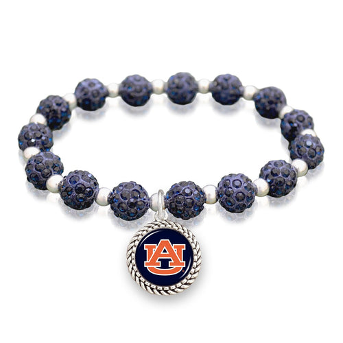 Auburn Tigers Team Color Sparkle Stretchy Bracelet