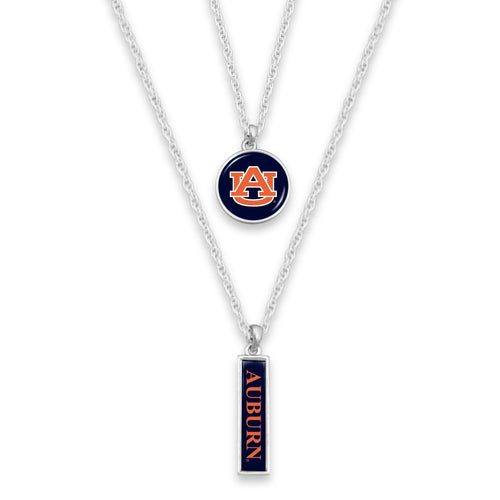 Auburn Tigers Double Layer Necklace