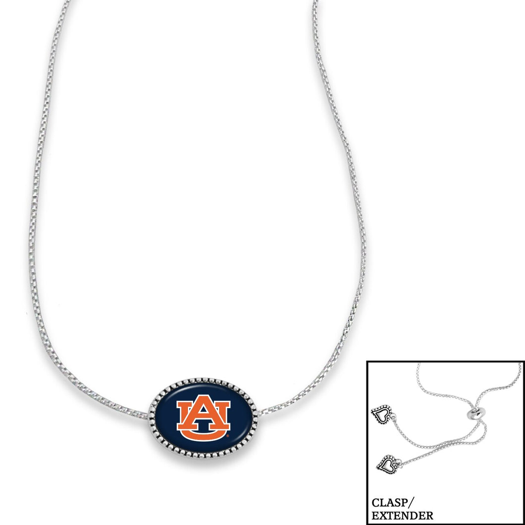 Auburn Tigers Adjustable Slider Bead Necklace