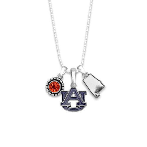 Auburn Tigers Home Sweet School Necklace