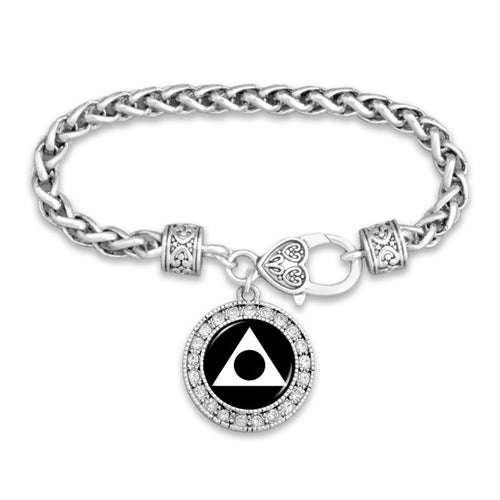 Al-Anon Lobster Clasp Bracelet with Crystal Charm