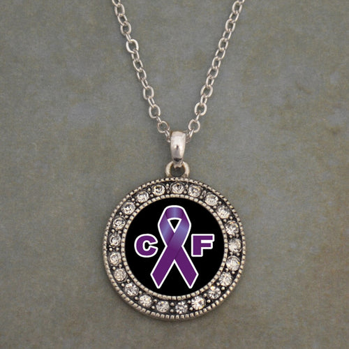 Cystic Fibrosis Awareness Crystal Charm Necklace