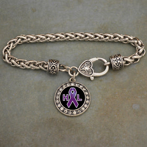 Hodgkin's Lymphoma Awareness Braided Clasp Bracelet