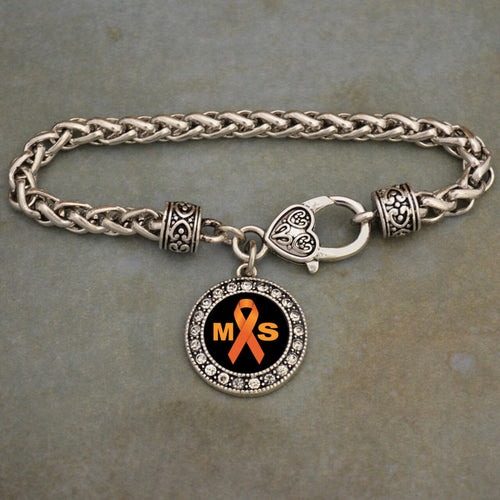 Multiple Sclerosis Awareness Braided Clasp Bracelet