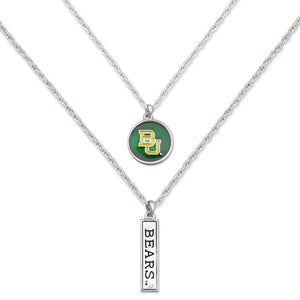 Baylor Bears Double Down Necklace