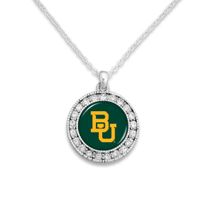 Baylor Bears Kenzie Round Crystal Charm Necklace