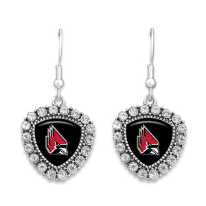 Ball State Cardinals Brooke Crystal Earrings
