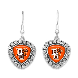 Bowling Green State Falcons Brooke Crystal Earrings