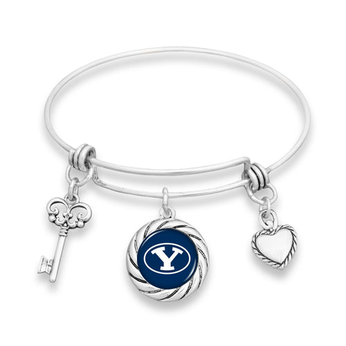BYU Cougars Twisted Rope Bracelet