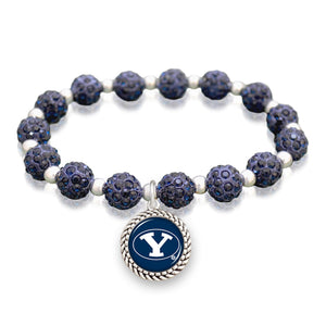 BYU Cougars Team Color Sparkle Stretchy Bracelet