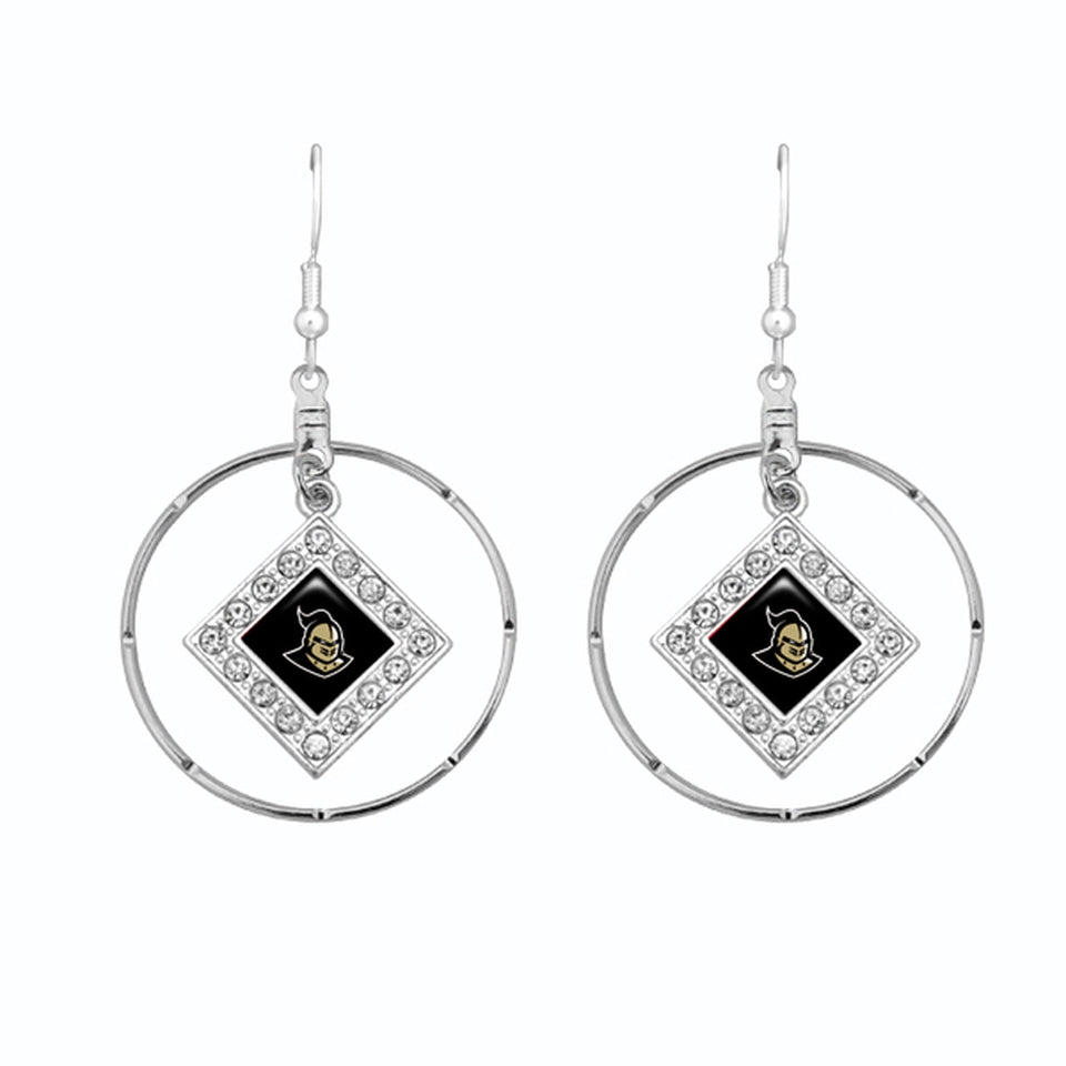 Central Florida Knights Silver Hoop Earrings