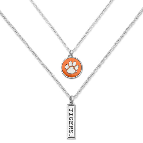 Clemson Tigers Double Down Necklace