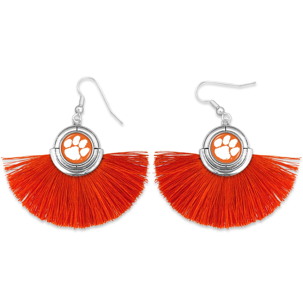 Clemson Tigers Tassel Earrings