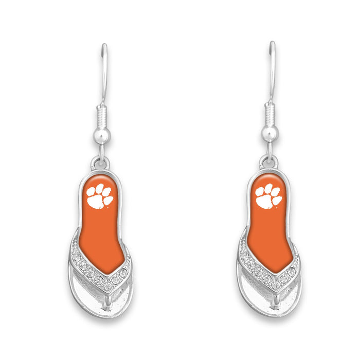 Clemson Tigers Flip Flop Earrings