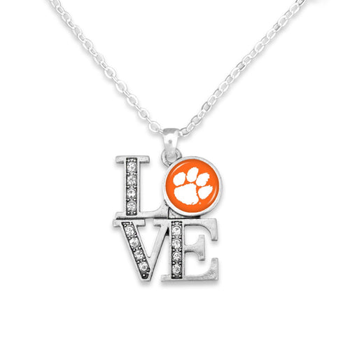 Clemson Tigers LOVE Necklace