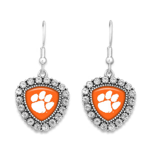 Clemson Tigers Brooke Crystal Earrings
