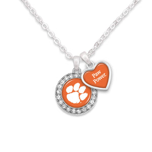 Clemson Tigers Spirit Slogan Necklace