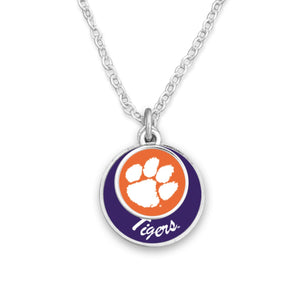 Clemson Tigers Stacked Disk Necklace