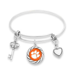 Clemson Tigers Twisted Rope Bracelet