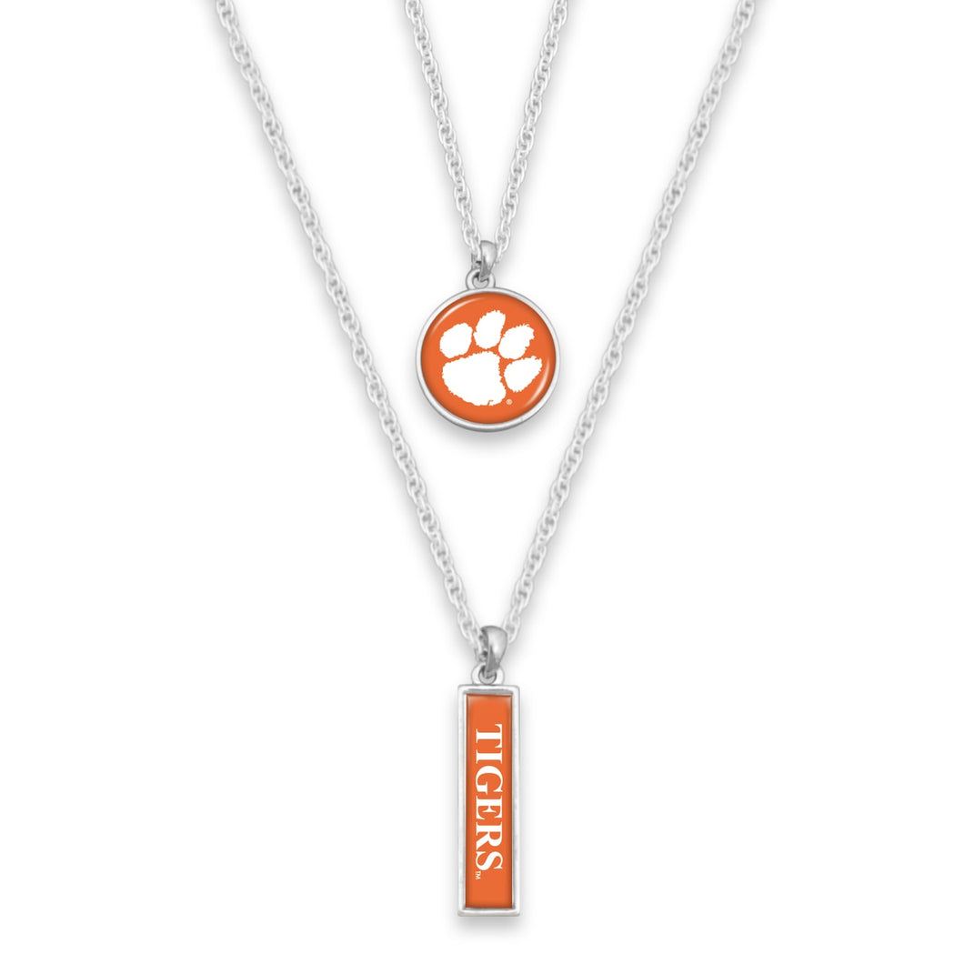 Clemson Tigers Double Layer Necklace