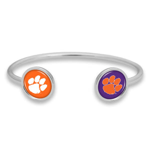 Clemson Tigers Duo Dome Cuff Bracelet