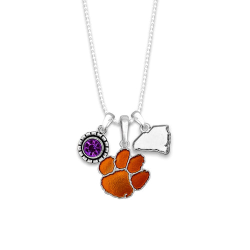 Clemson Tigers Home Sweet School Necklace