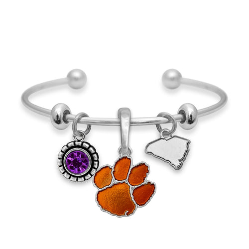 Clemson Tigers Home Sweet School Bracelet