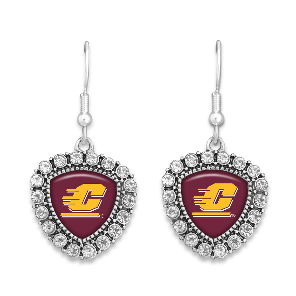 Central Michigan Chippewas Brooke Crystal Earrings