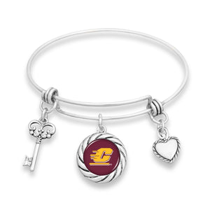 Central Michigan Chippewas Twisted Rope Bracelet